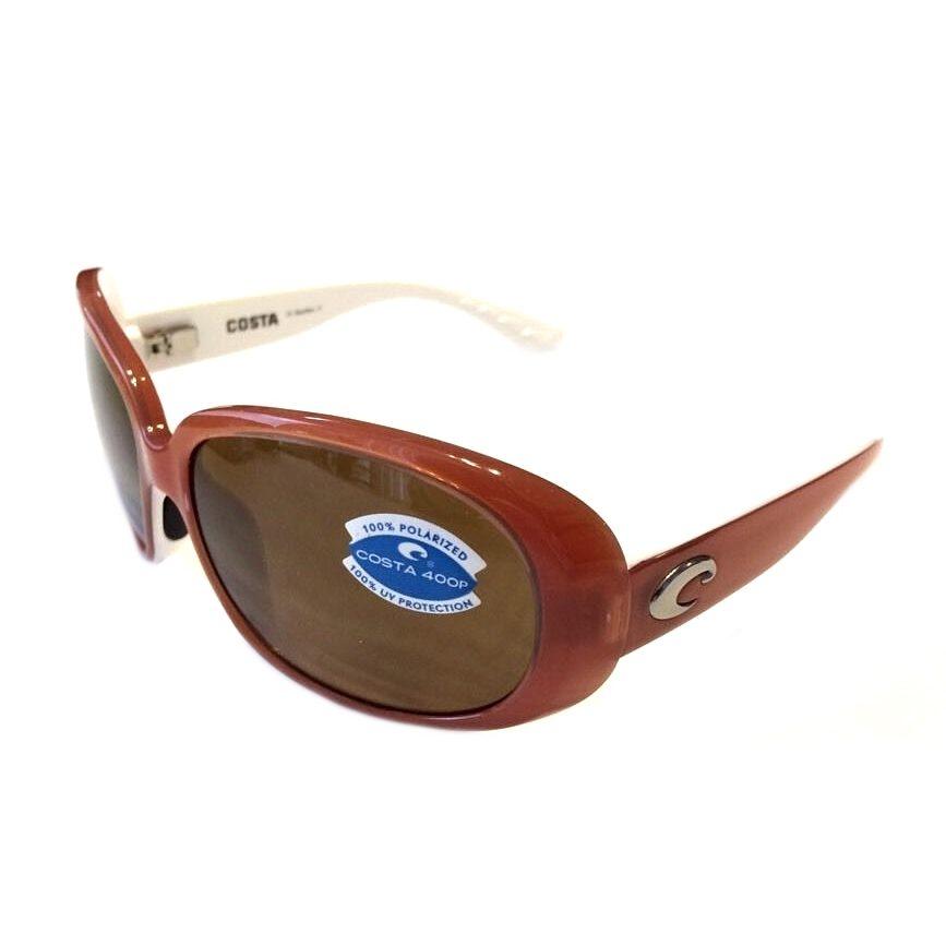 Costa Del Mar Hammock Sunglasses POLARIZED Salmon White Dark Amber 400P