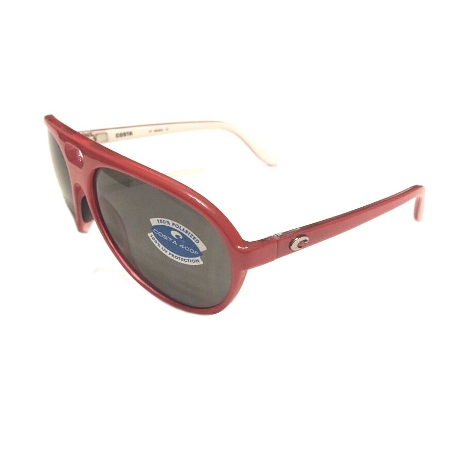 Costa Del Mar Grand Catalina Sunglasses - Red White - Gray 400P POLARIZED