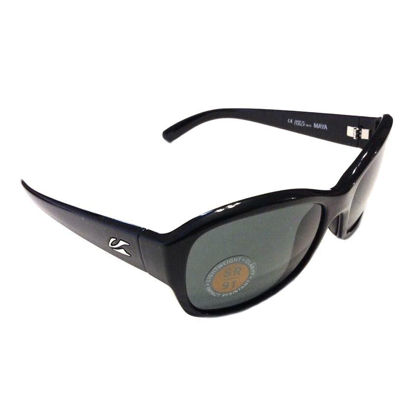 Kaenon Maya Sunglasses - Black Frame - G12 Grey Lens - 231-01-G12NP
