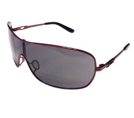Oakley Distress Shield Sunglasses - Cayenne Red Frame - Gray Lens - OO4073-04