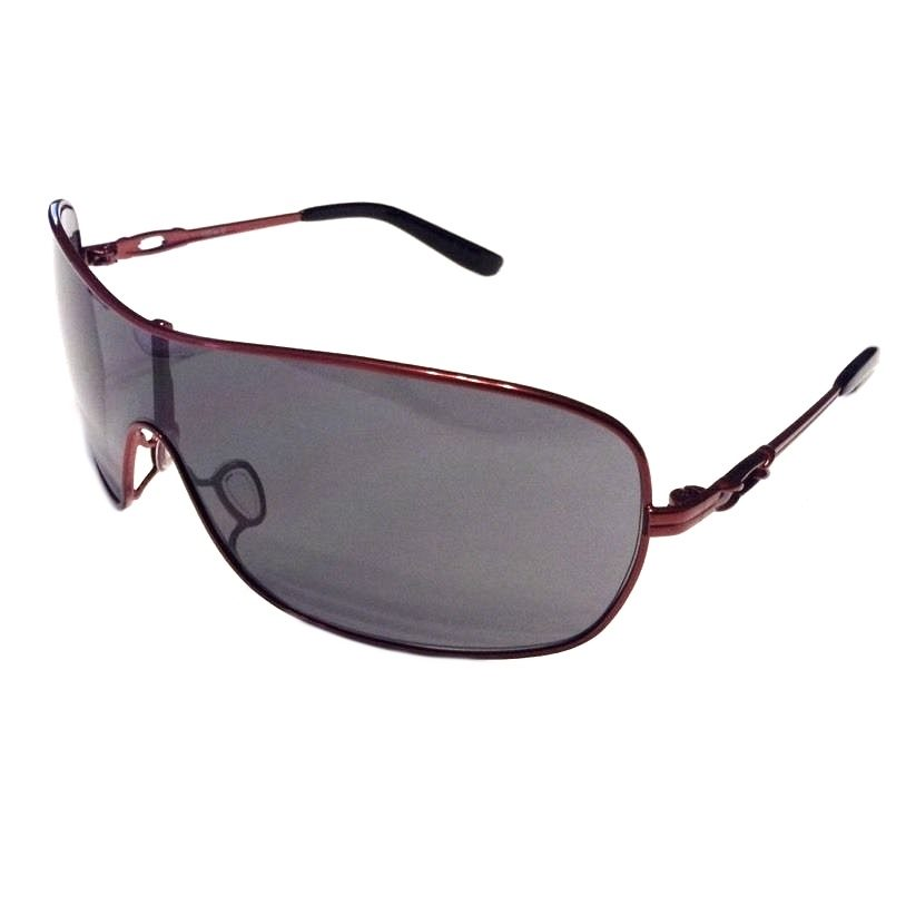 Oakley Distress Sunglasses - Cayenne Red Frame - Grey Lens - OO4073-04