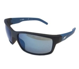 Arnette Fastball Sunglasses - Fuzzy Matte Black Blue Frame - Blue Mirror Lens AN4202-226855