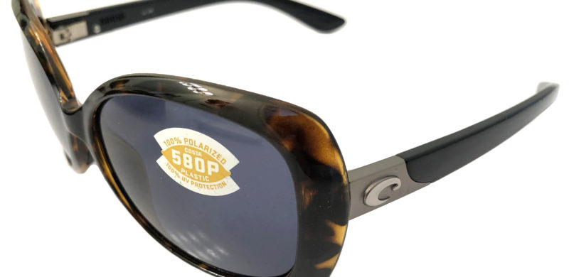 Costa Del Mar Sea Fan Sunglasses - Retro Tortoise Black - POLARIZED Gray 580P