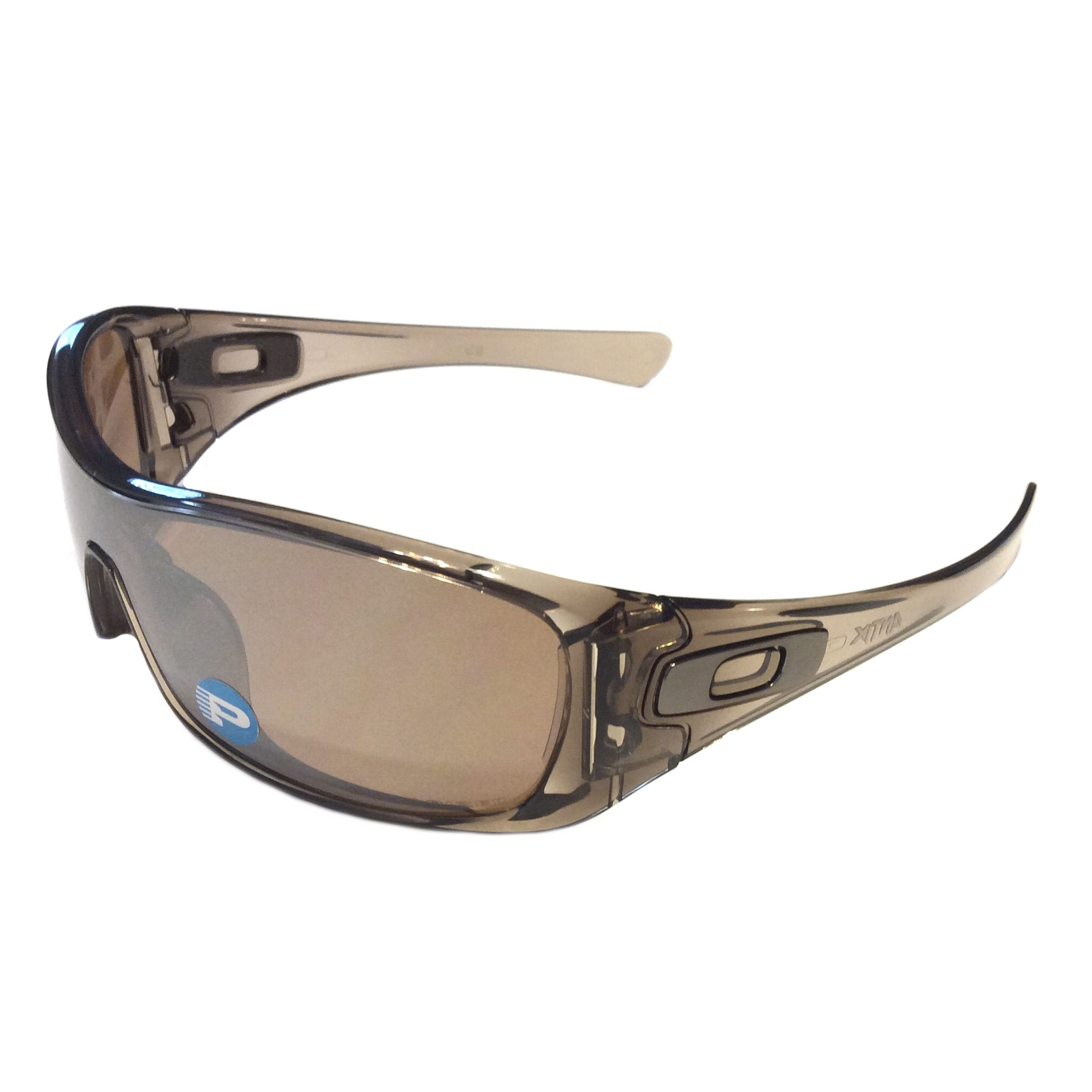 47e21c0e63 Oakley Antix Sunglasses Brown Smoke Tungsten Iridium Polarized ...
