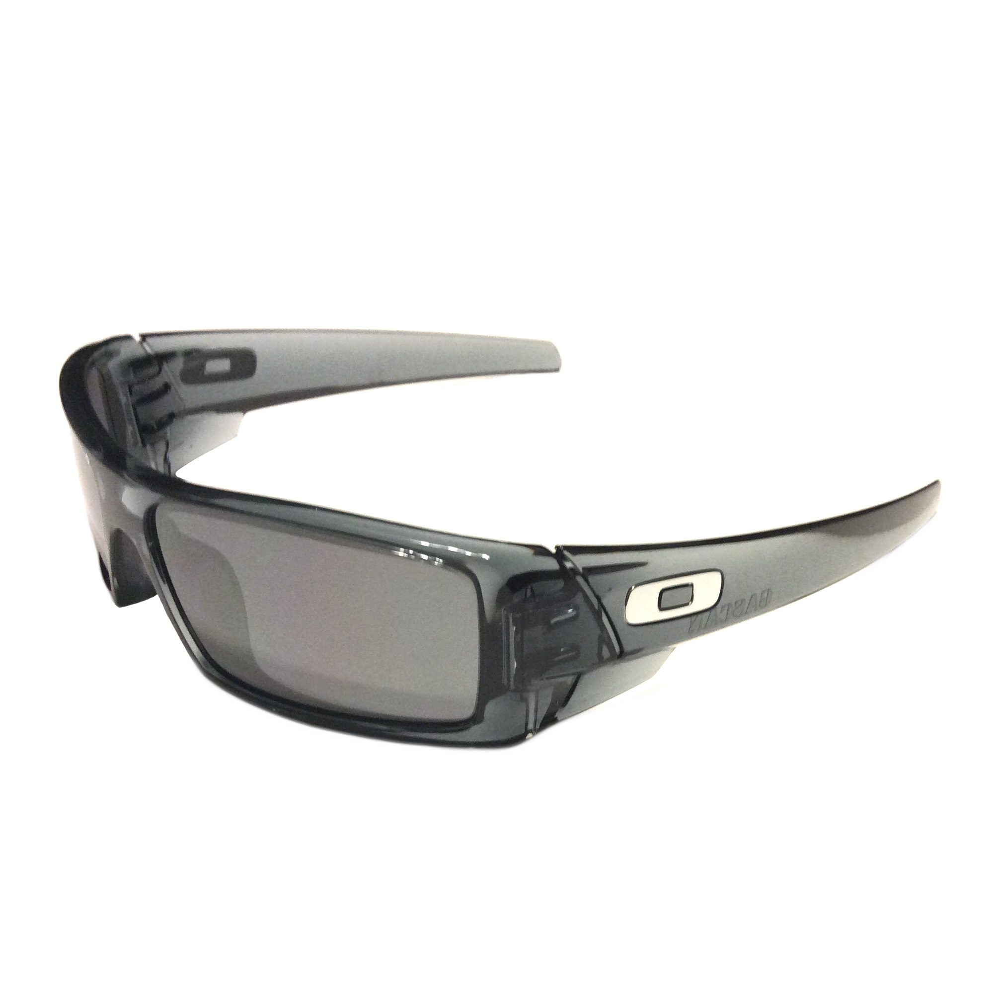 oakley gascan sunglasses brown  new oakley gascan sunglasses crystal black frame black iridium 03 481
