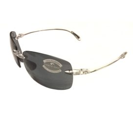 Costa Del Mar Destin Sunglasses - Crystal Clear Frame - Polarized Dark Gray Lens 580P