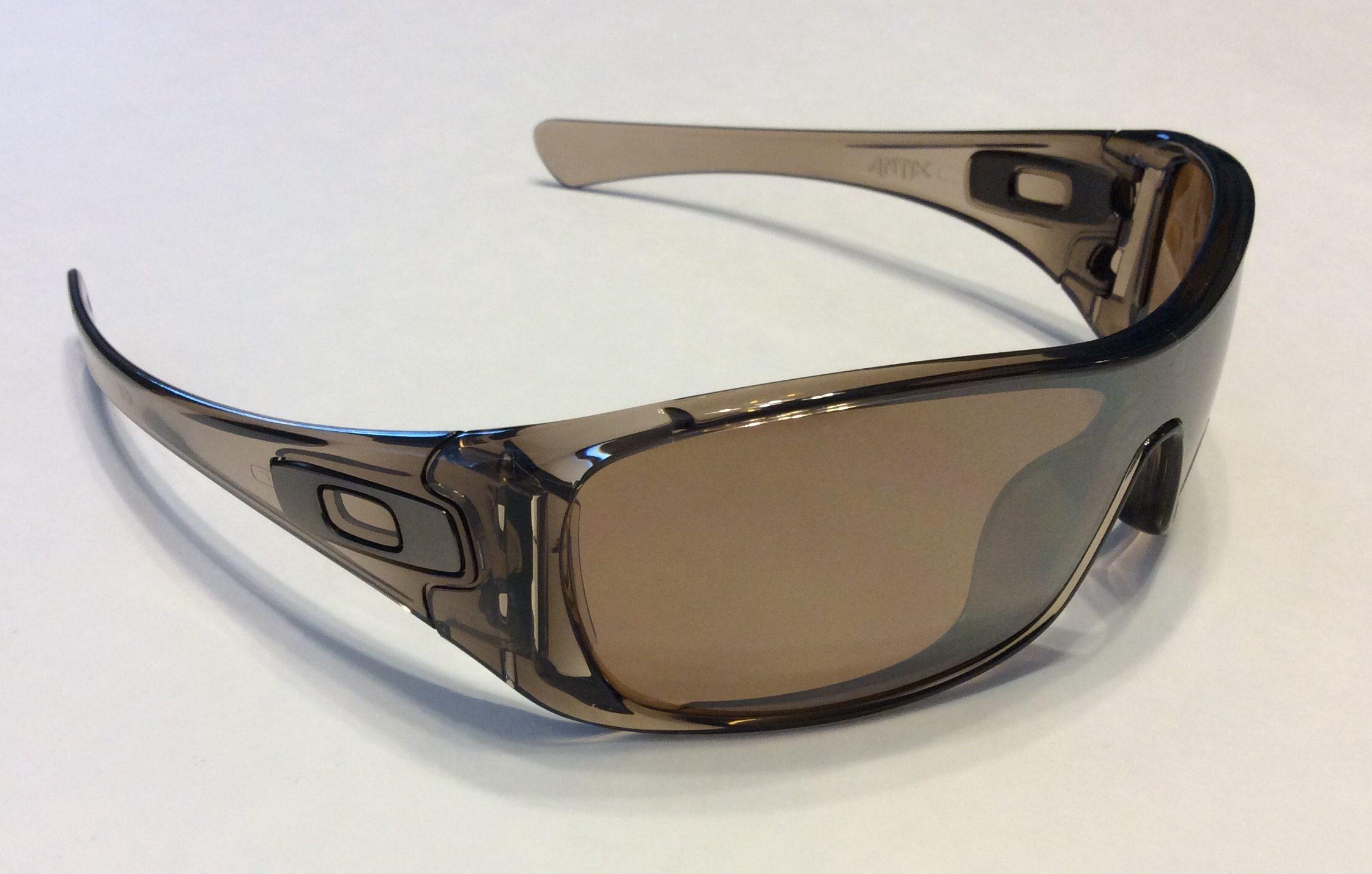 f9ae474e934 Oakley Antix Sunglasses Brown Smoke Tungsten Iridium Polarized ...