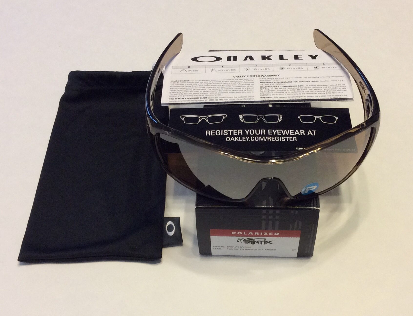 b8f446673f NEW Oakley Antix Sunglasses - Brown Smoke - Tungsten Iridium POLARIZED - 12- 960