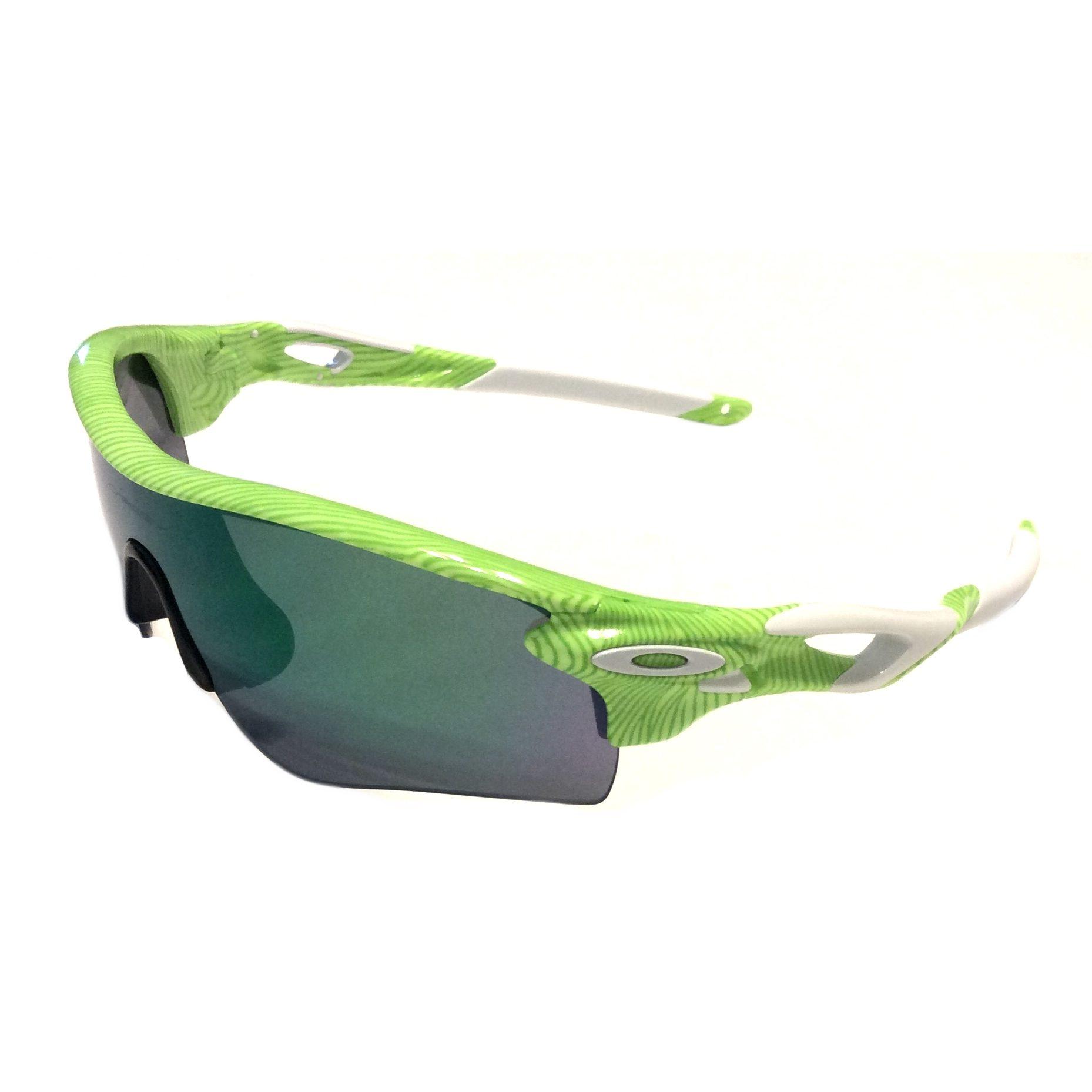 6bde756b9c Oakley Radarlock Path Sunglasses Fingerprint Retina Burn Green Jade + Black  Iridium OO9181-47