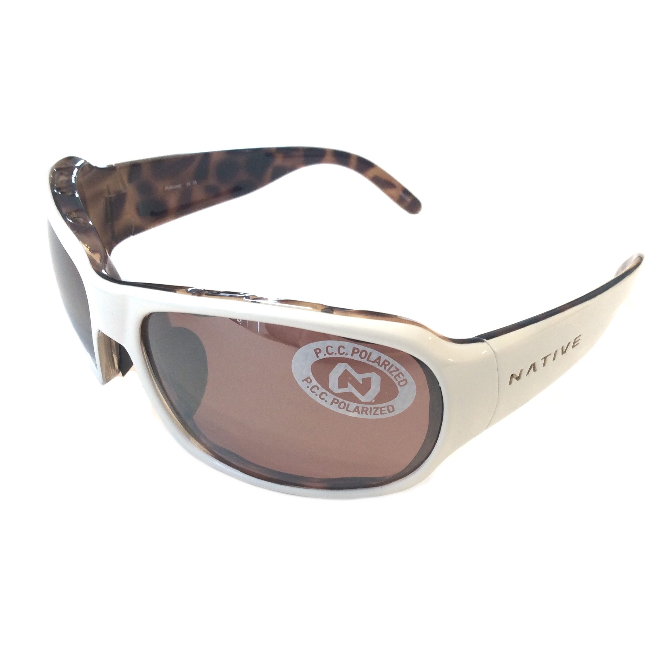 Copper Polarized Sunglasses  native eyewear solo sunglasses sahara white frame polarized