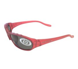 Native Eyewear Throttle Sunglasses - Red Frost Frame - Polarized Gray Lens