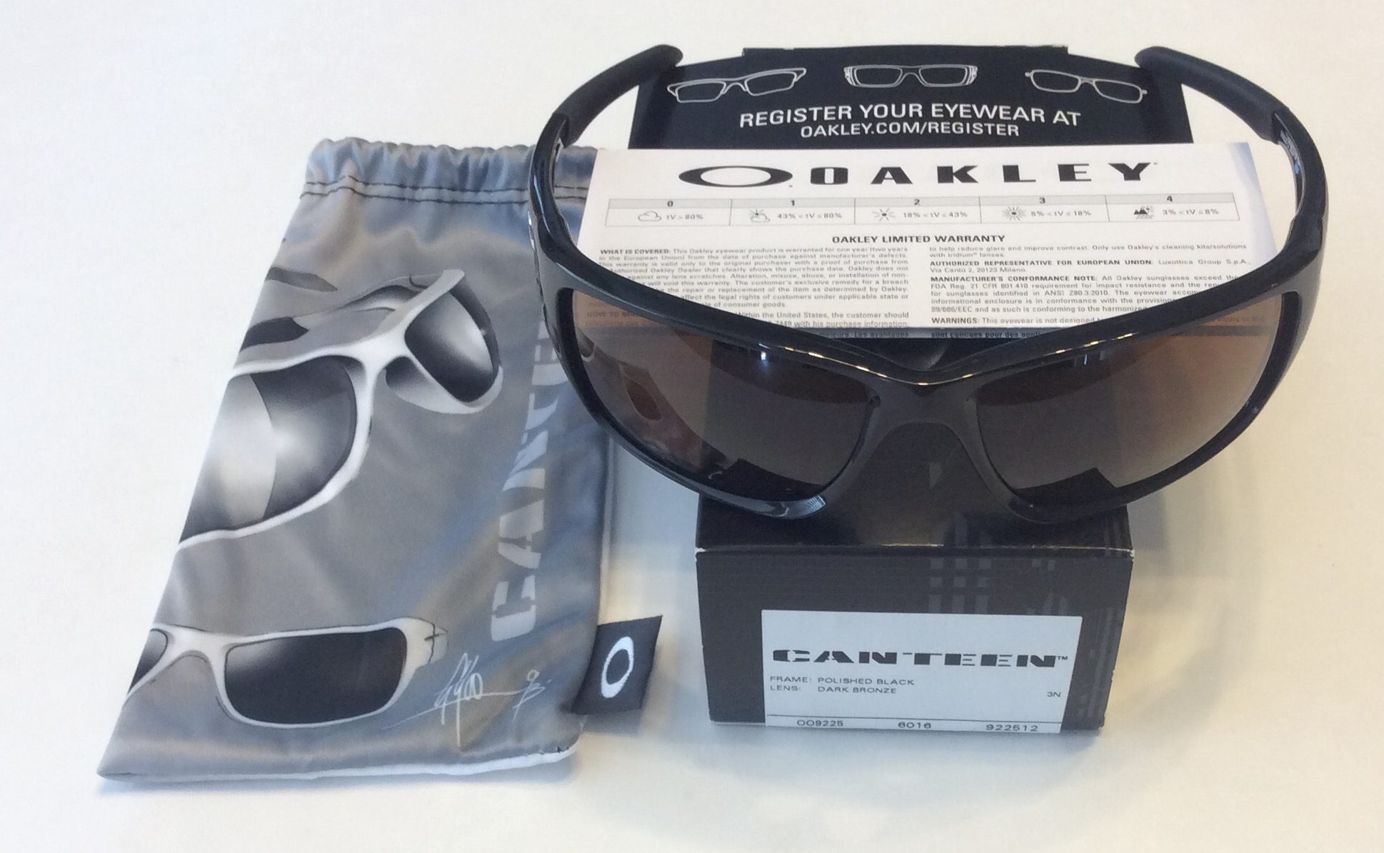 db79d21cb66 Oakley Canteen Sunglasses - Polished Black - Dark Bronze OO9225-12