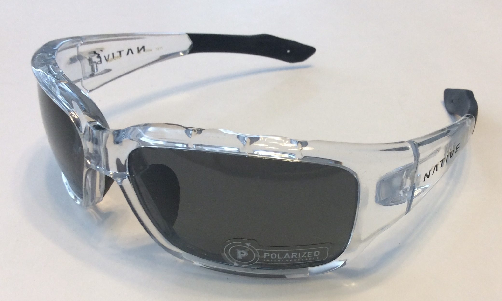0f0e34ab84 Native Eyewear Bolder Sunglasses - Crystal   Black - POLARIZED Gray XTRA  Lens