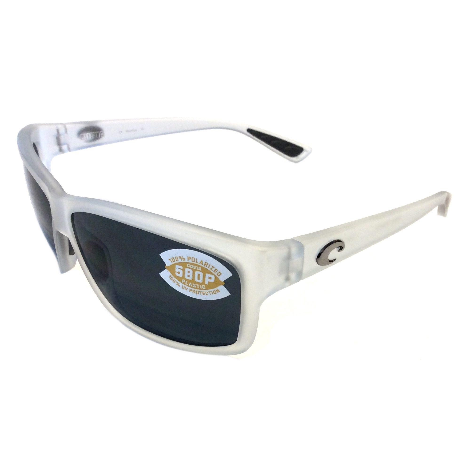 afb3014c13aa Costa Del Mar Cut Sunglasses - Matte Crystal - POLARIZED Gray - 580P