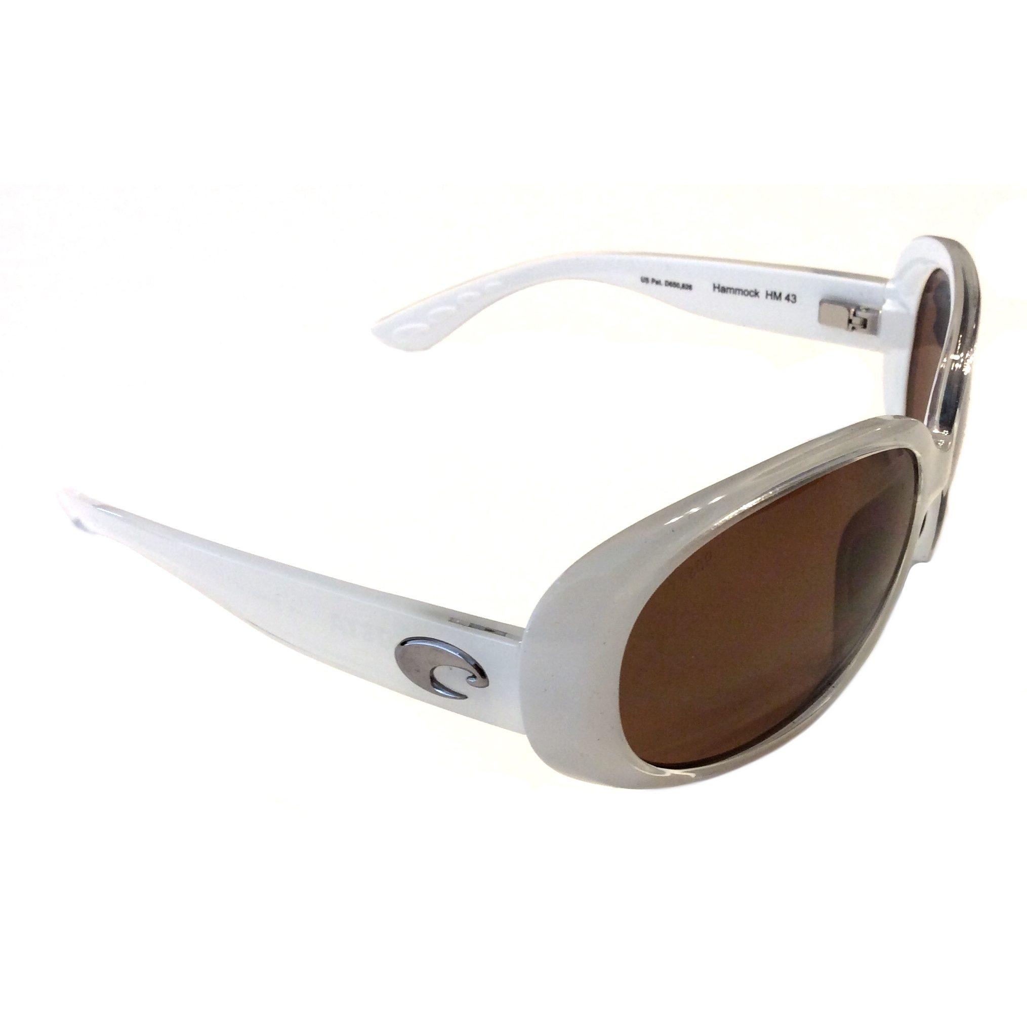 costa del mar hammock sunglasses   sand white   polarized amber 580p costa del mar hammock  u2013 sand white  u2013 polarized amber 580p      rh   nativeslope