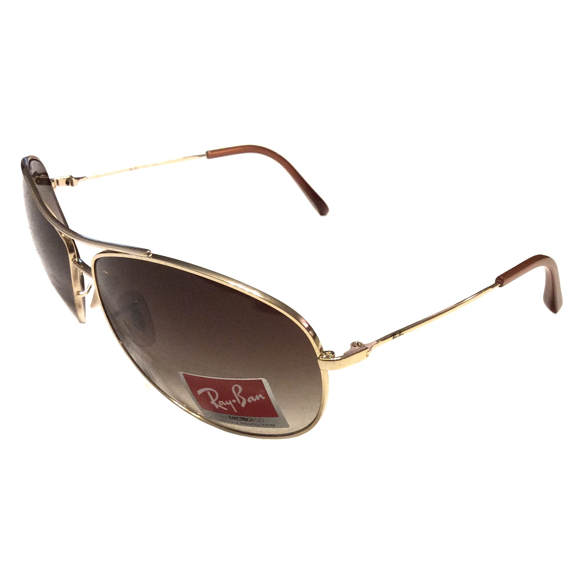 Ray-Ban Aviator Sunglasses - Gold Frame - Brown Gradient RB3454L 001/13