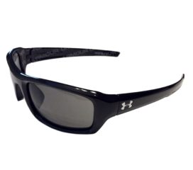 Under Armour Surge Sunglasses UA - Shiny Black Frame - Gray Lens