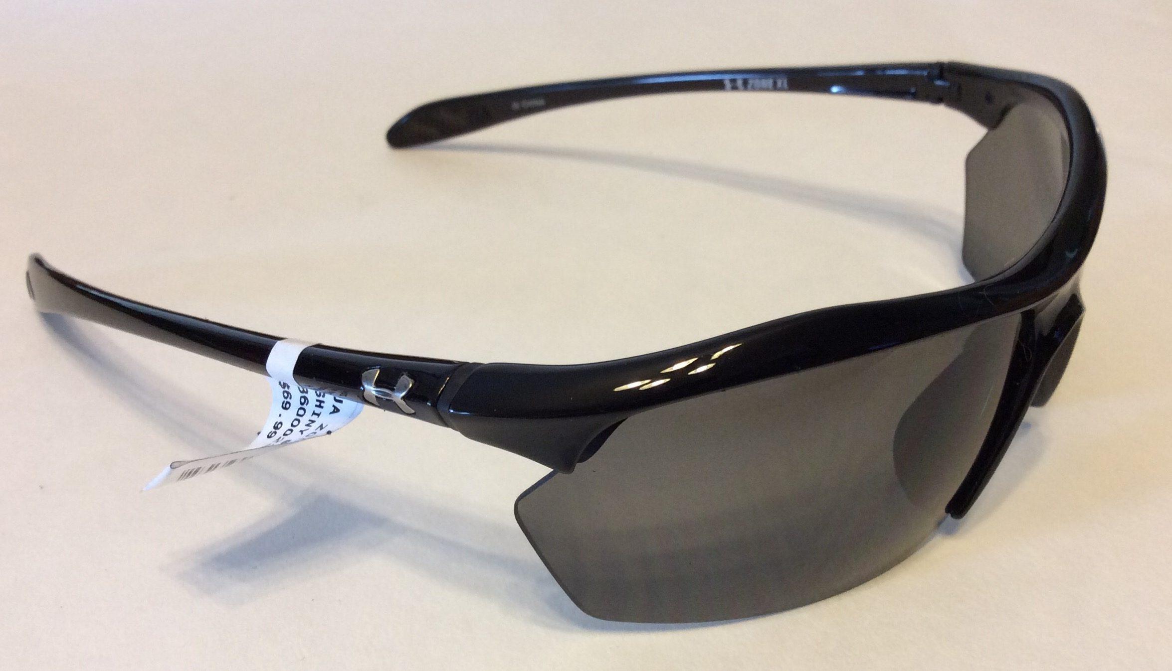 5d513cd262cc Under Armour Zone XL Sunglasses UA - Shiny Black - Gray 8600023-5100