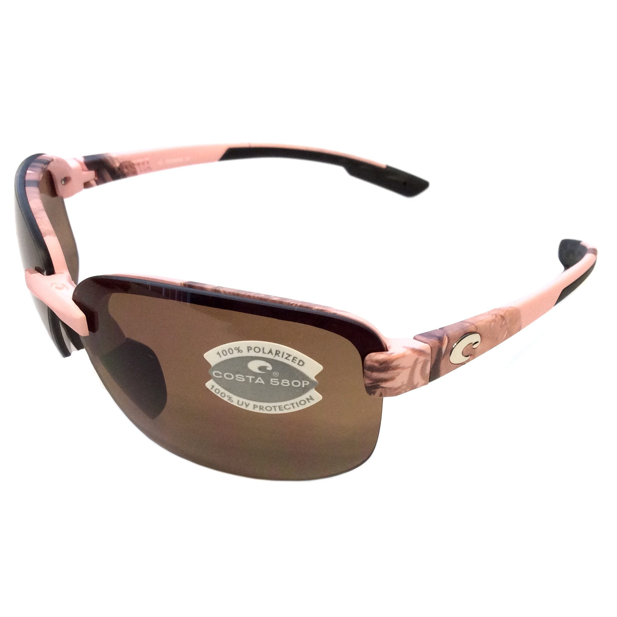 Costa Del Mar Austin Sunglasses Pink Realtree Camo AP POLARIZED Amber 580P