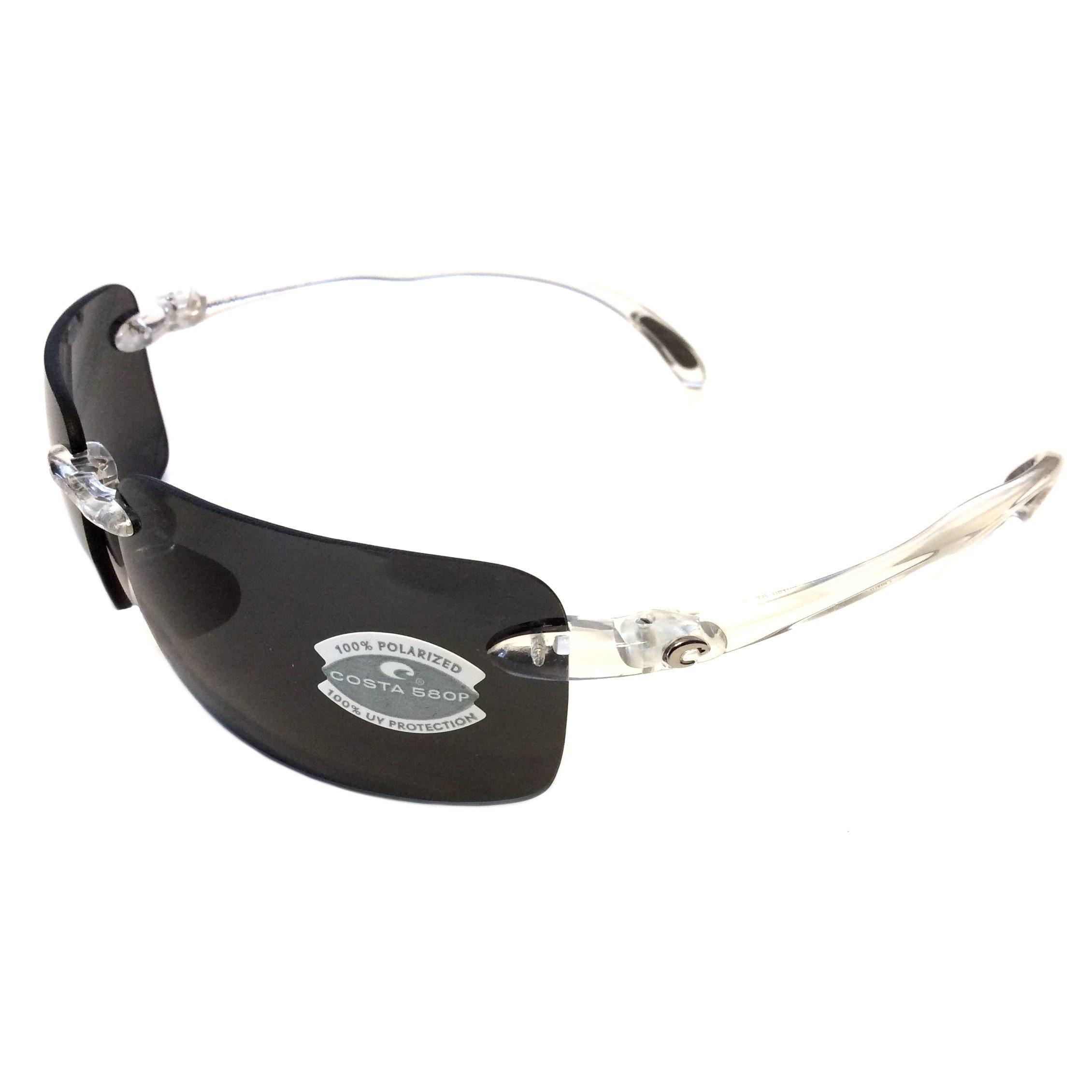 cdfb05923d Costa Del Mar Cayan Sunglasses – Crystal Clear Frame – Polarized Gray 580P  Lens