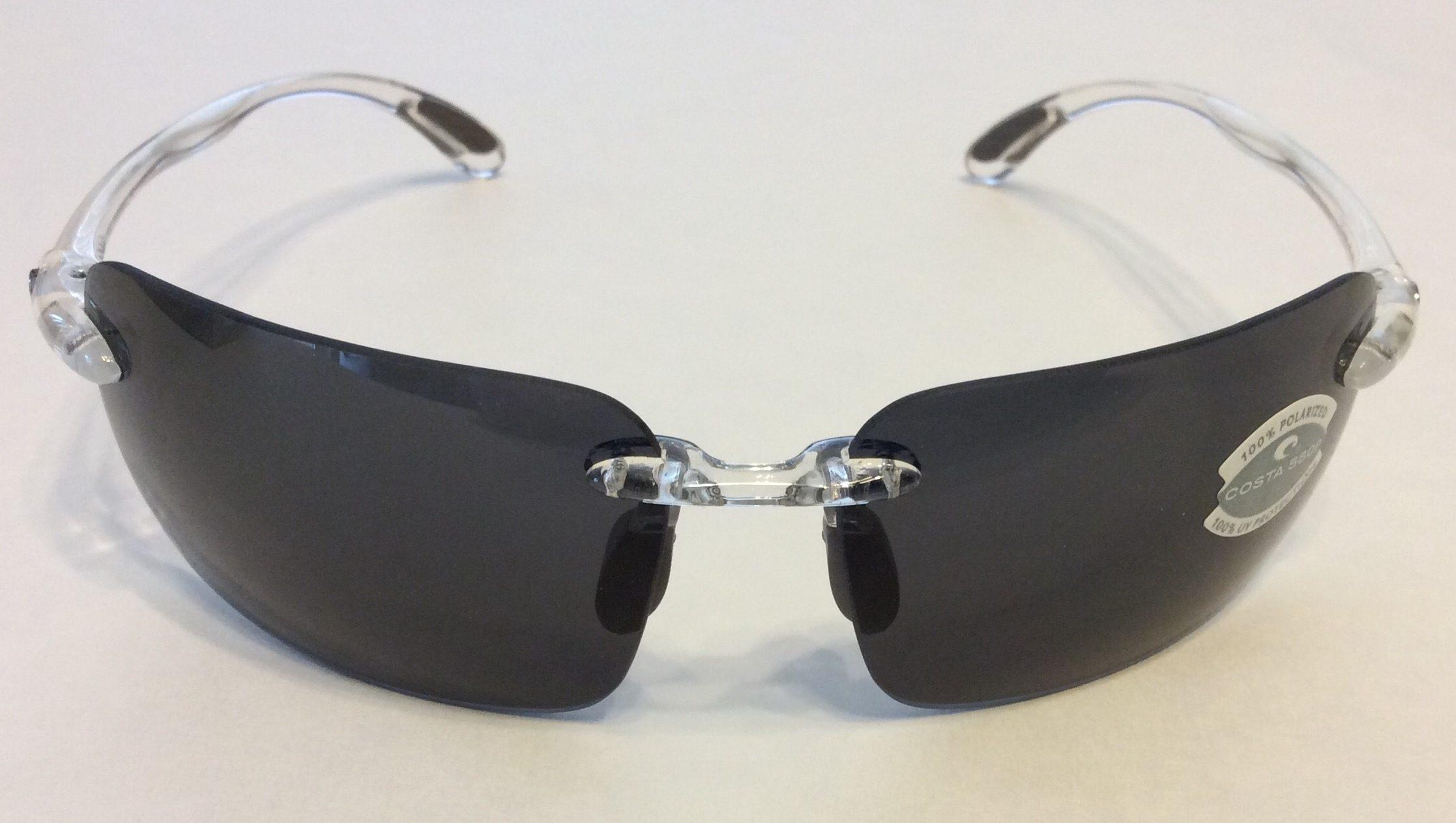 ba9ce966dd Costa Del Mar Cayan Sunglasses – Crystal Clear Frame – Polarized ...