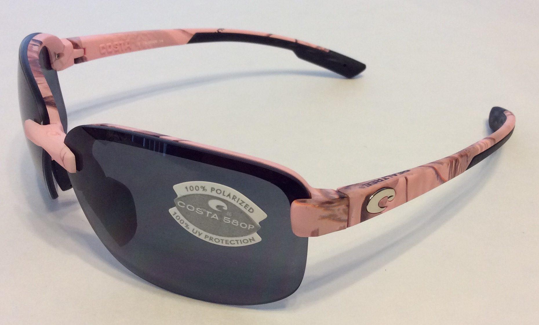 Costa Del Mar Austin Sunglasses Pink Realtree Camo AP POLARIZED Gray 580P