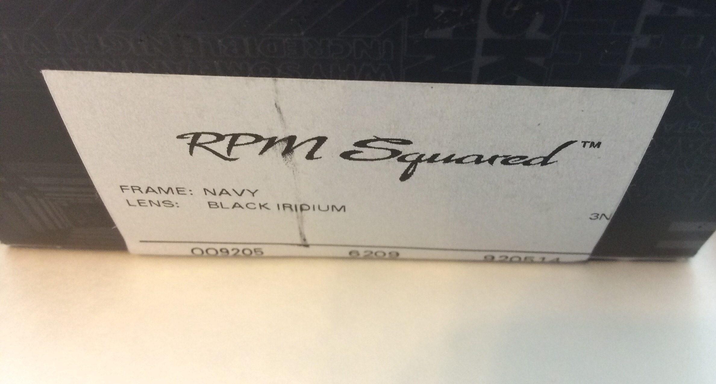 44ef0cd6b3 Oakley RPM Squared Sunglasses - Navy Blue Frame - Black Iridium - OO9205-14
