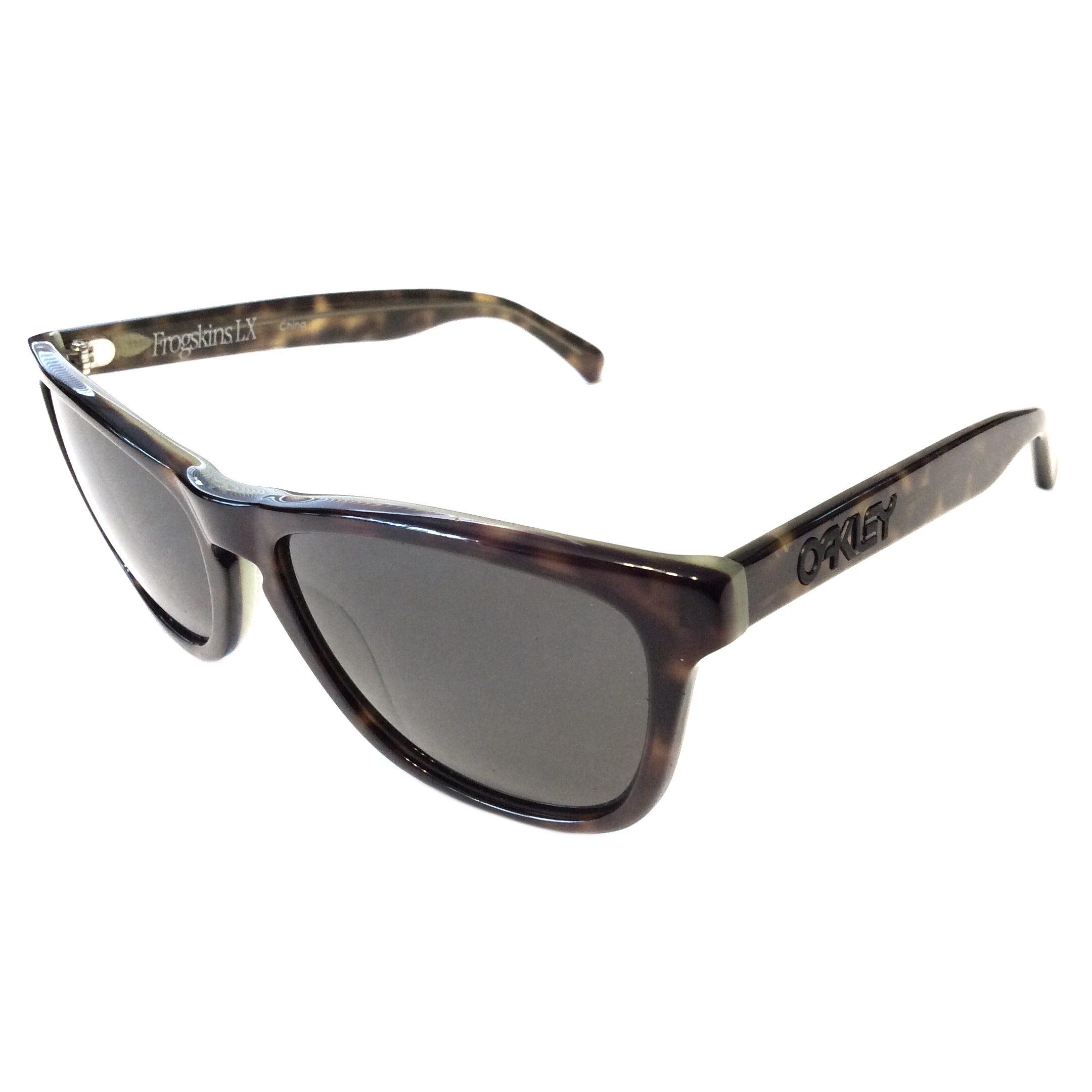 c7748da3c27 Oakley Frogskins LX Sunglasses - Tortoise Green Frame - Dark Grey OO2043-07