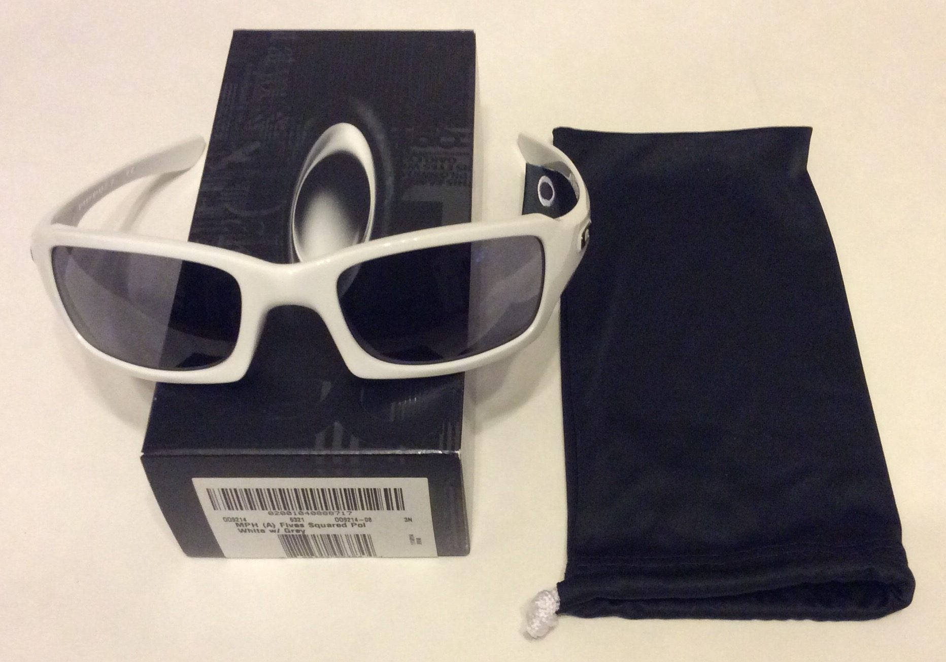 Oakley Fives Squared Sunglasses (A) MPH Asian Polished White - Gray OO9214-08