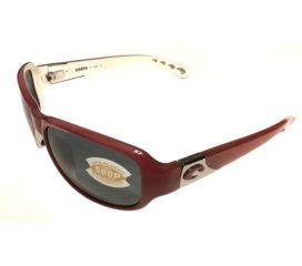 Costa Del Mar Las Olas Sunglasses - Red Coral & White - Polarized Gray 580P Lens