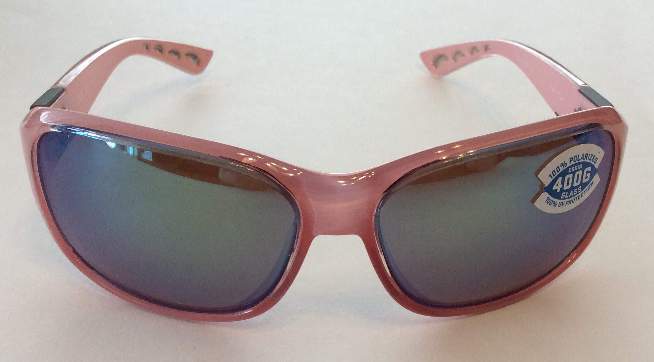 2a66dfaa6b25 Costa Del Mar Inlet Sunglasses - Coral Pink - Green Mirror POLARIZED 400G  Glass