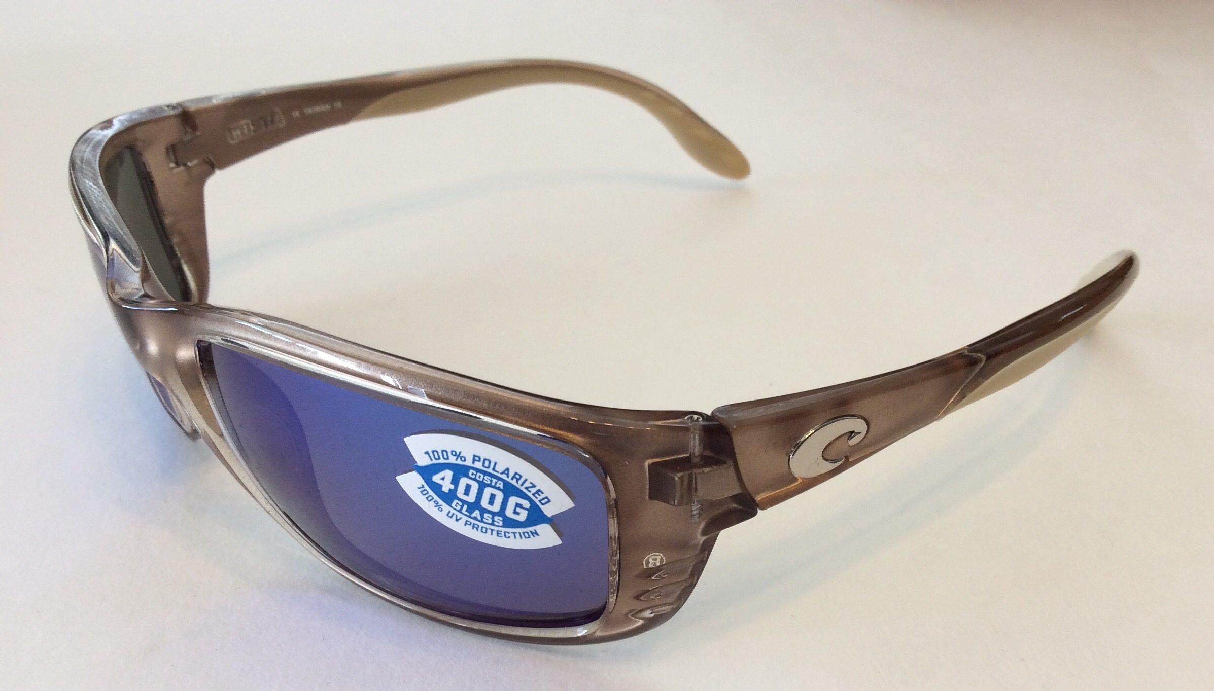 New Costa del Mar Caballito Polarized Sunglasses Black//Blue Mirror 400G Fishing