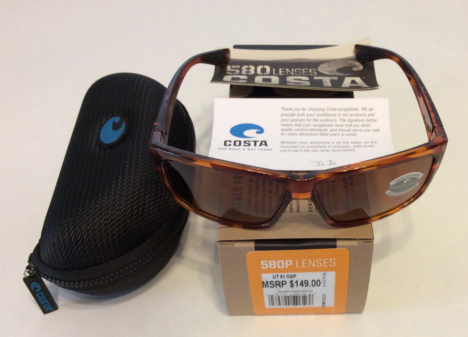90fe3c5c0a633 Costa Del Mar Cut Sunglasses - Honey Tortoise - POLARIZED Amber 580P