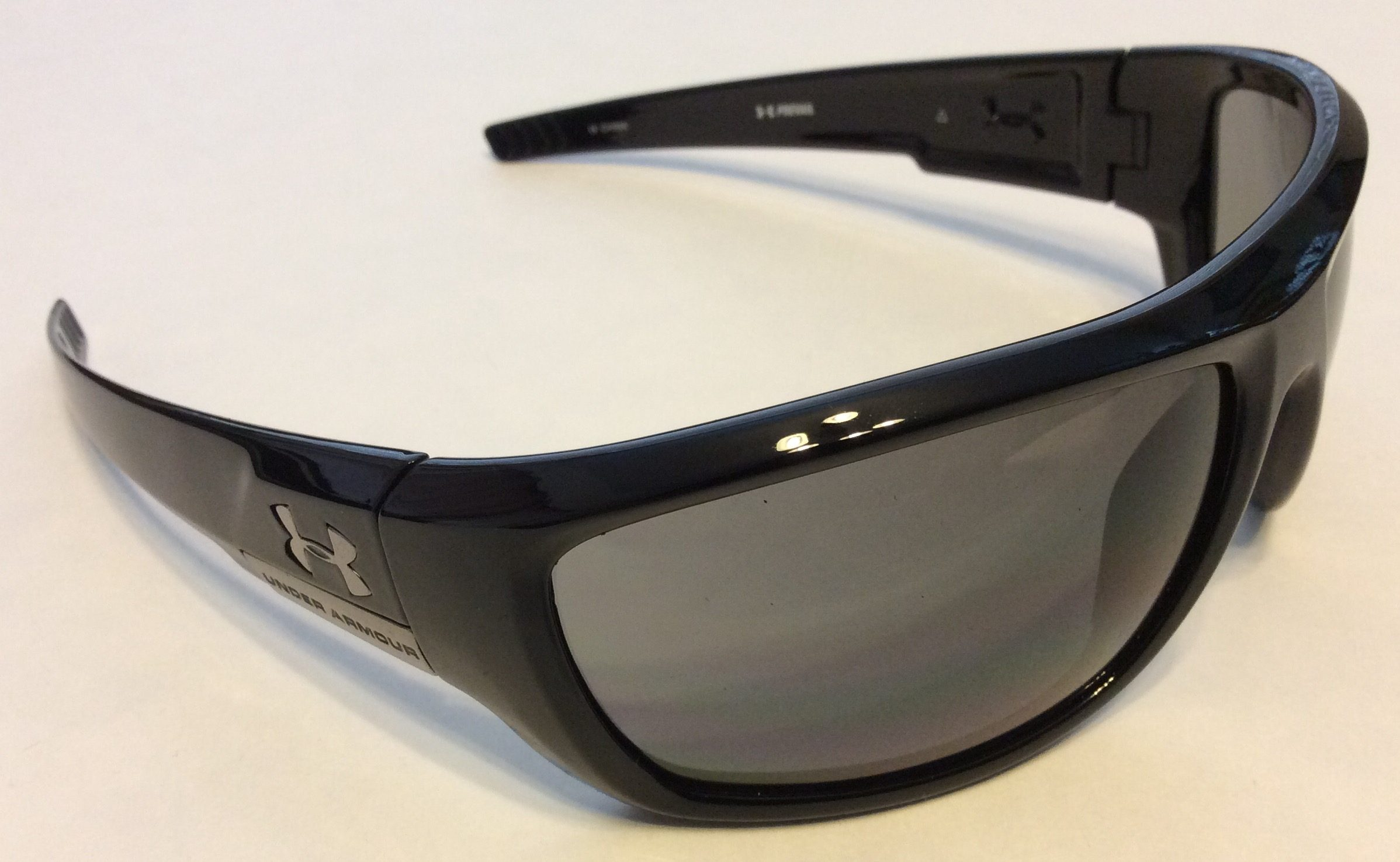 Dvx Sunglasses  new under armour prevail sunglasses shiny black gray 8600034