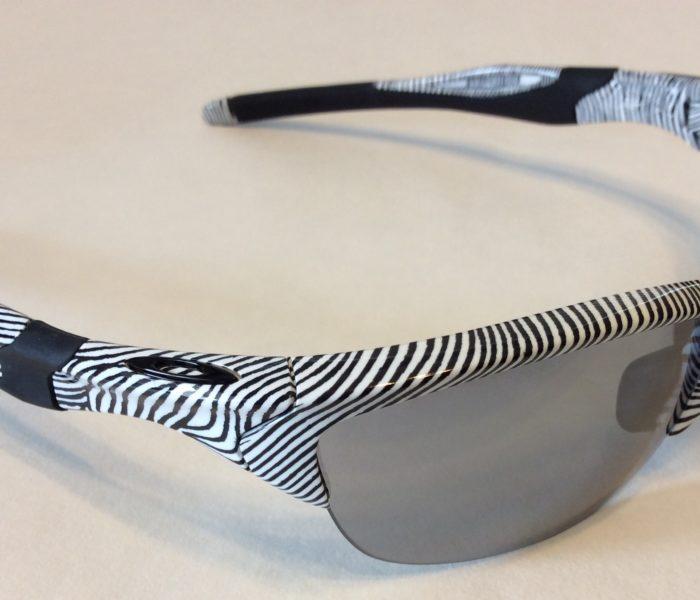 Oakley Half Jacket 2.0 Sunglasses (A) Fingerprint White Slate Iridium OO9153-22