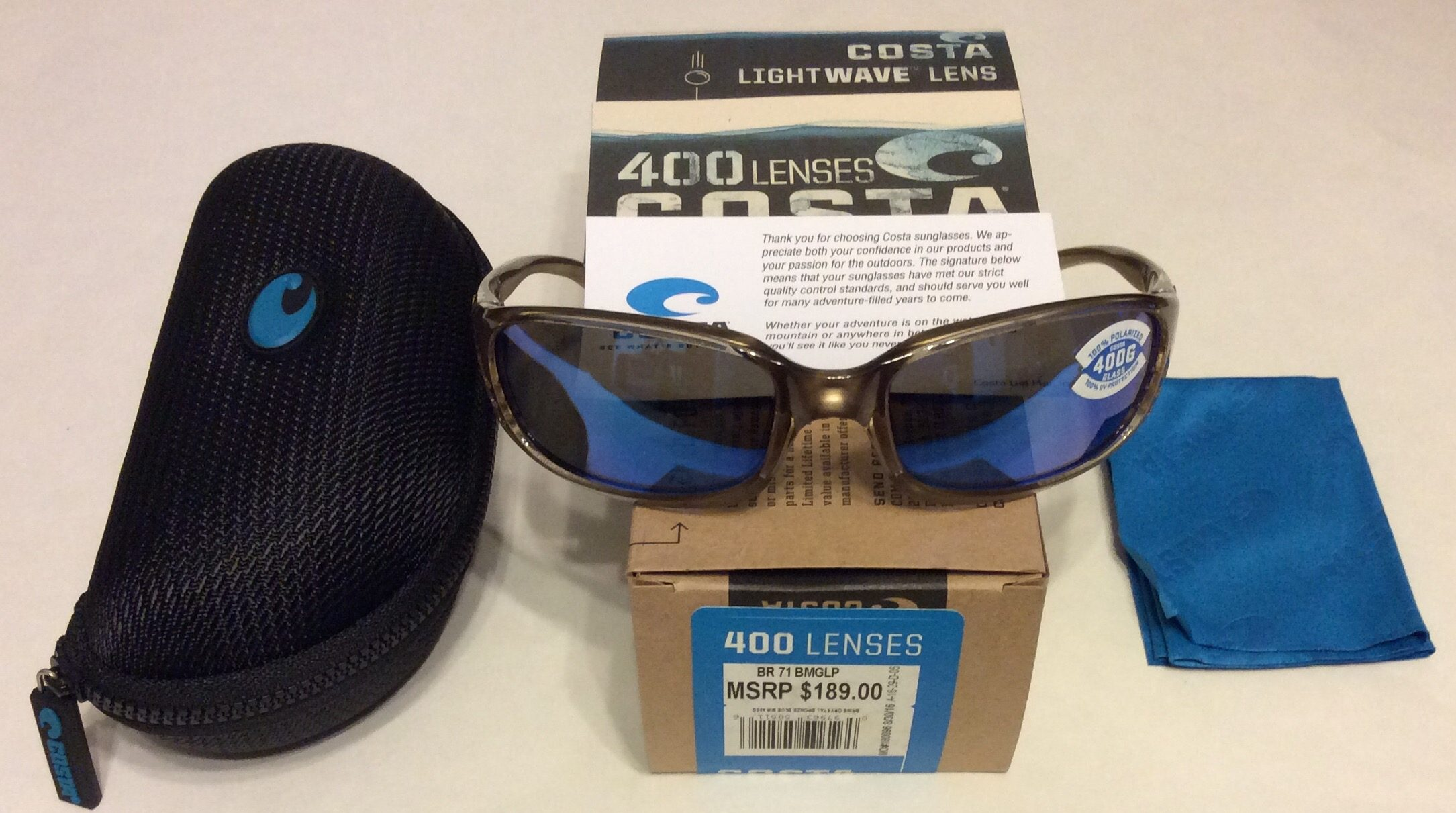 f2310b3061 Costa Del Mar Brine Sunglasses - Crystal Bronze POLARIZED Blue Mirror 400G