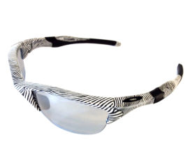 Oakley Half Jacket 2.0 Sunglasses - Fingerprint White Frame - Slate Iridium Lens