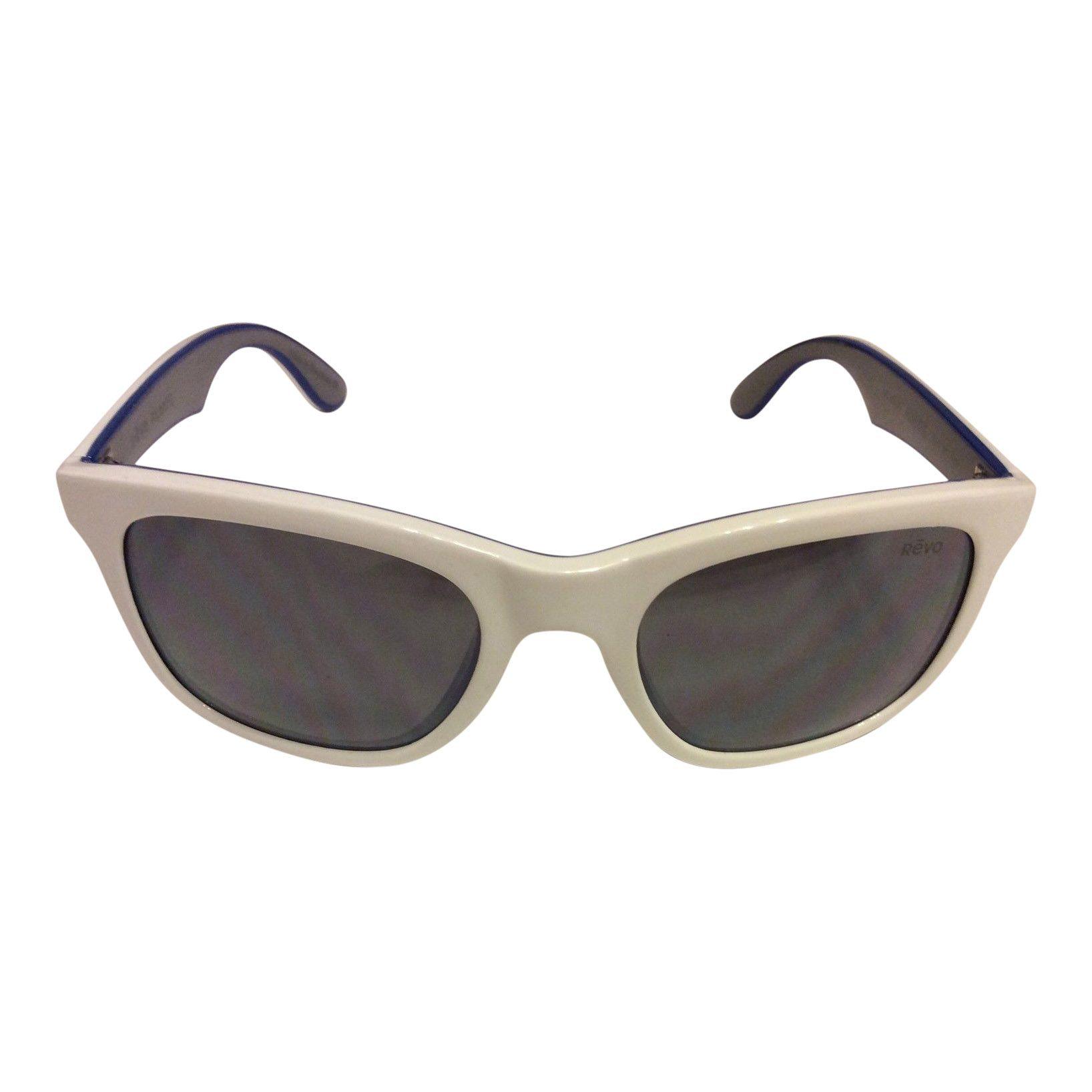 e40defba1d Revo Huddie Sunglasses – White Blue Frame – Polarized Gray Lens – RE1000-09