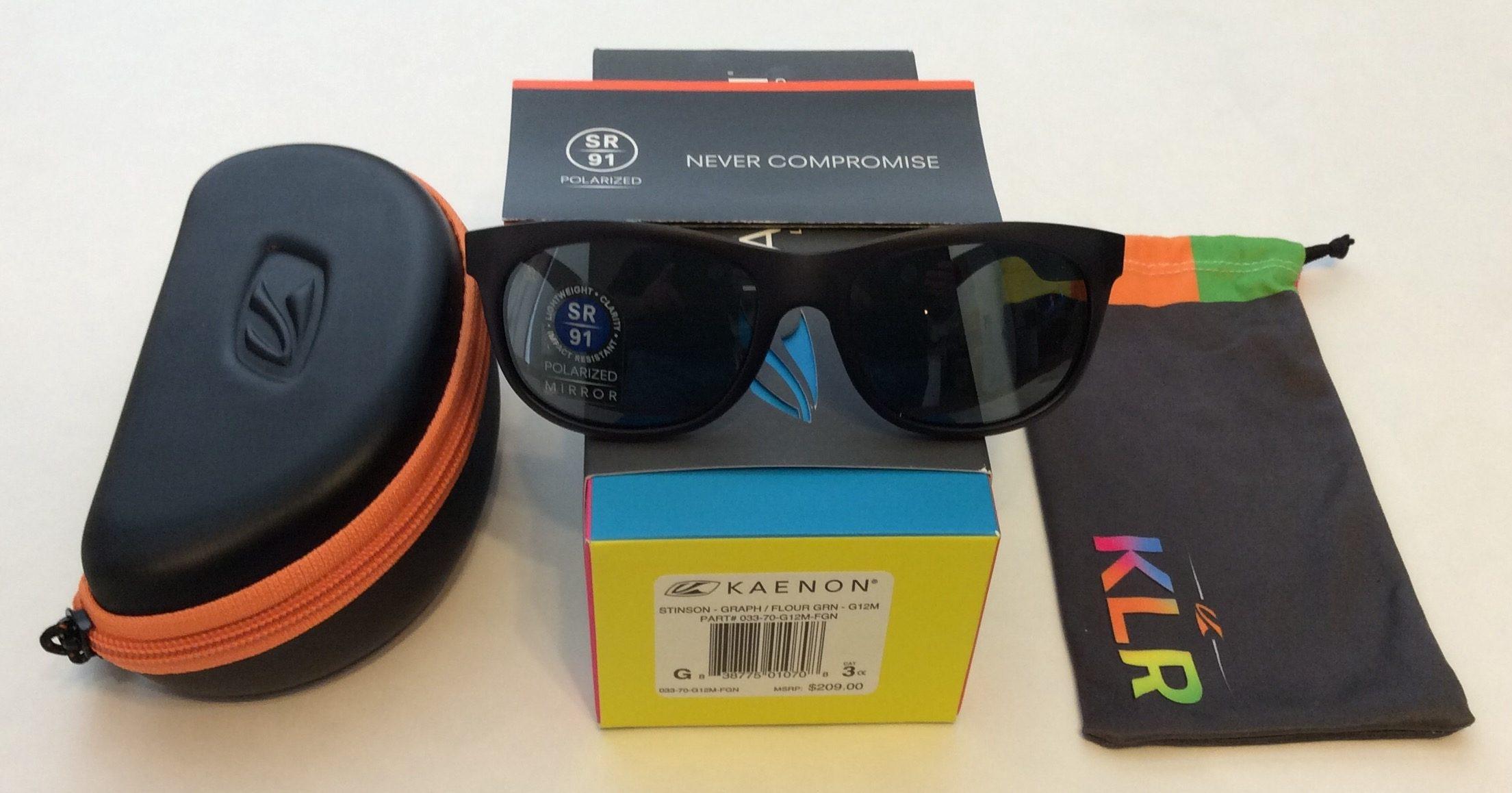 3987552ca763c Kaenon Stinson Sunglasses - Graphite Flouro Green - POLARIZED Grey Mirror