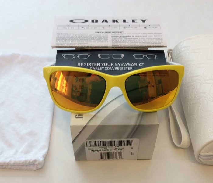 Oakley Forehand Sunglasses - Sunflower Yellow White - Fire Iridium OO9179-16