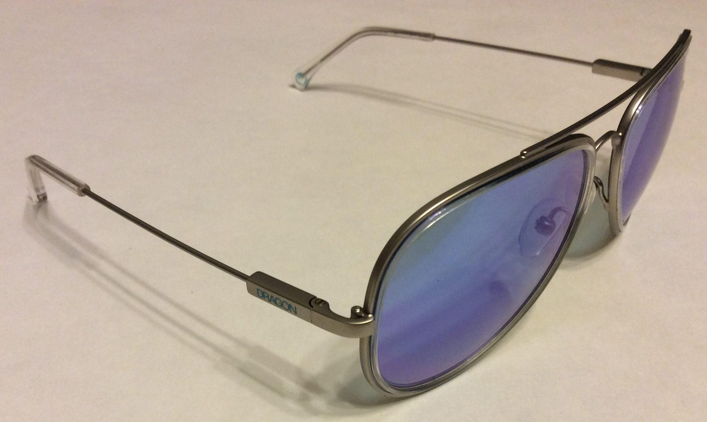 Dragon Status Aviator Style Sunglasses Matte Silver