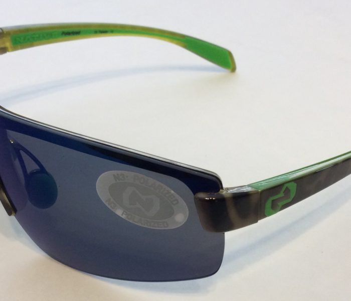 Native Eyewear Lynx Sunglasses - Lime Burst Green - POLARIZED Blue Reflex