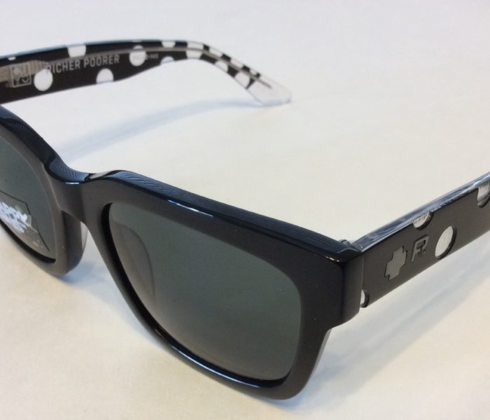 Spy Trancas Sunglasses - Richer Poor Black Polka Dots Happy Gray Green