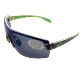 Native Eyewear Lynx Sunglasses - Lime Burst Green Frame - Polarized Blue Reflex Lens