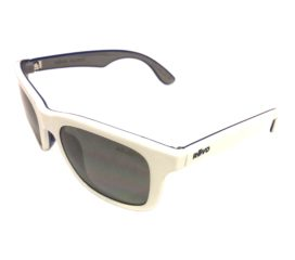 Revo Huddie Sunglasses - White Blue Frame - Polarized Gray Lens - RE1000-09
