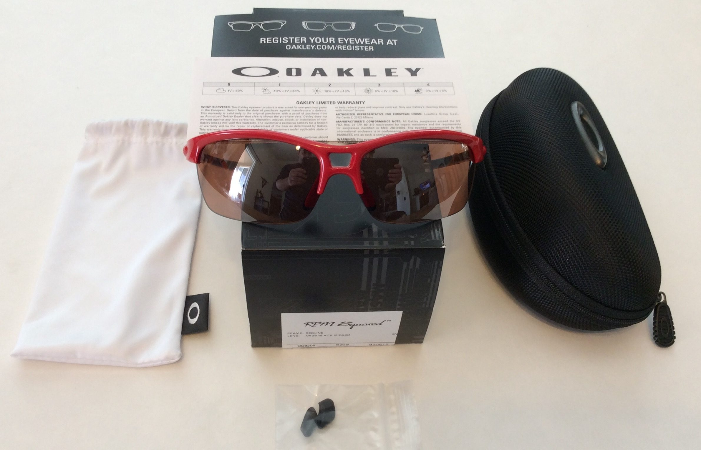 90b011805bb Oakley RPM Squared Sunglasses - Redline Red - VR28 Black Iridium OO9205-15