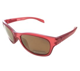 Native Eyewear Highline Sunglasses- Red Frost Frame - Polarized N3 Bronze Reflex Lens