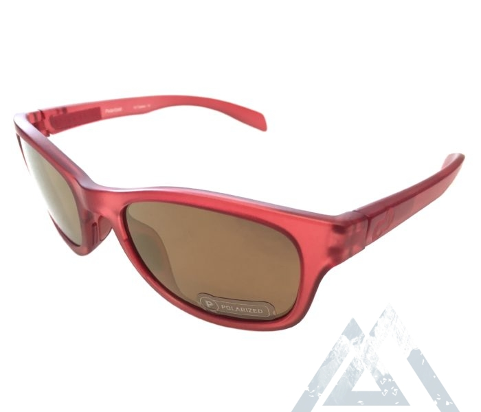 Native Eyewear Highline Sunglasses - Red Frost POLARIZED N3 Bronze Reflex