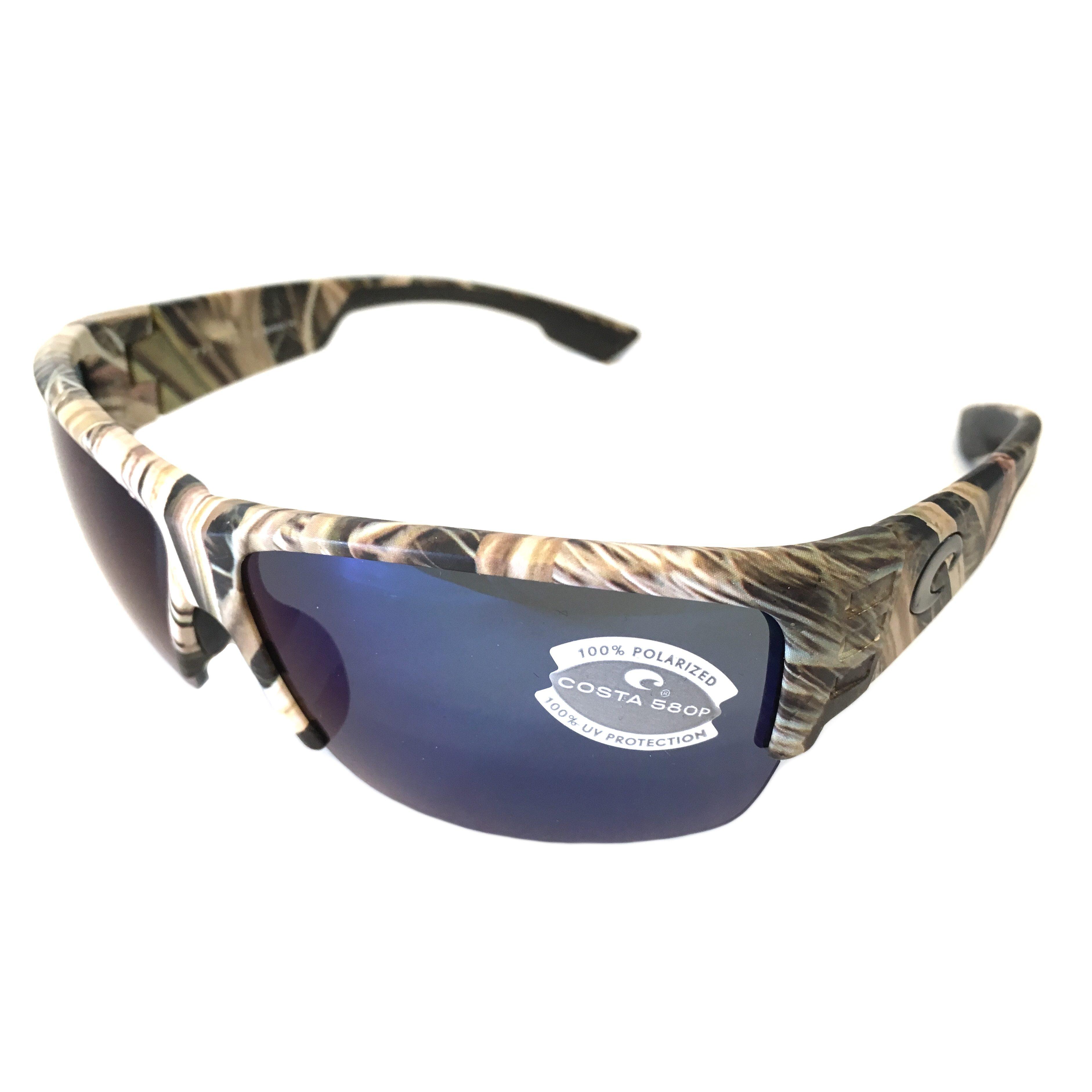 New Costa Del Mar HATCH Polarized Sunglasses 580P Mossy Oak//Blue Mirror Camo