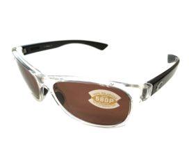 Costa Del Mar Prop Sunglasses - Black Pearl Clear Frame - Polarized Copper Lens 580P